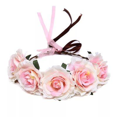 Damer/Kids Vakkert Silke blomst Blomsterpike Hodestykke/Pannebånd (Selges i ett stykke)