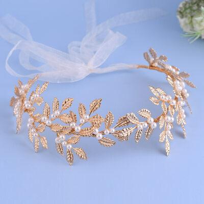 Damer/Kids Vakkert Legering/Imitert Perle Pannebånd med Perle/Venetianske Perle (Selges i ett stykke)