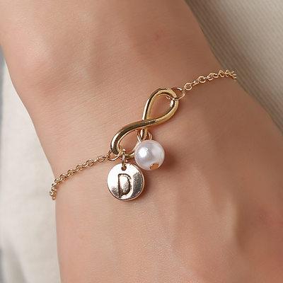 Brudepike Gaver - Personlig Ensfarget Legering Imitert Perle Armbånd