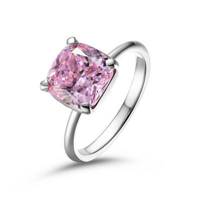 Solitaire Lekker rosa Puttesnitt 925 sølv Løfteringer