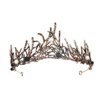 Ladies Beautiful Rhinestone/Imitation Pearls Tiaras With Rhinestone (Sold in single piece)