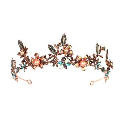 Ladies Beautiful Rhinestone/Alloy/Imitation Pearls Tiaras With Rhinestone (Sold in single piece)