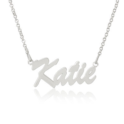 Custom Sterling Silver Name Necklace - Birthday Gifts Mother's Day Gifts