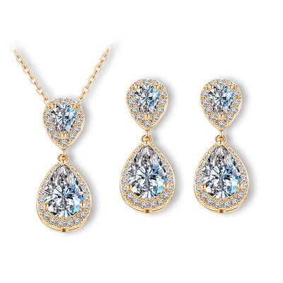 Unique Copper/Zircon Ladies' Jewelry Sets