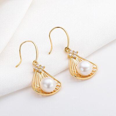 Ladies' Unique Pearl Earrings