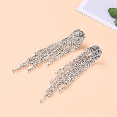 Ladies' Beautiful Alloy/Rhinestones Earrings