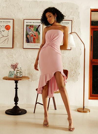 Sweetheart Asymmetrical Bridesmaid Dress