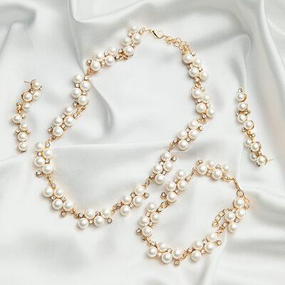 Elegant Alloy/Pearl With Rhinestone Ladies' Jewelry Sets