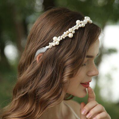 Damer Nydelig Imitert Perle Pannebånd med Venetianske Perle (Selges i ett stykke)