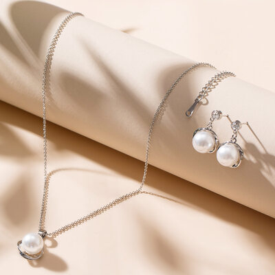 Elegant Legering/Perle/Crystal Damene ' Smykker Sett