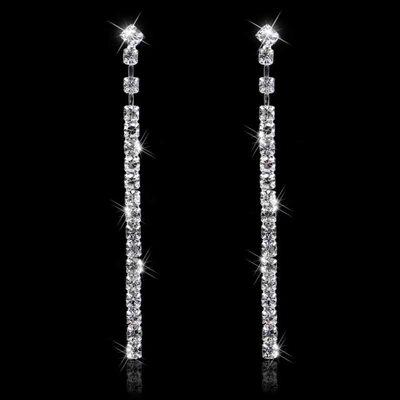 Ladies' Shining Alloy/Rhinestones Earrings