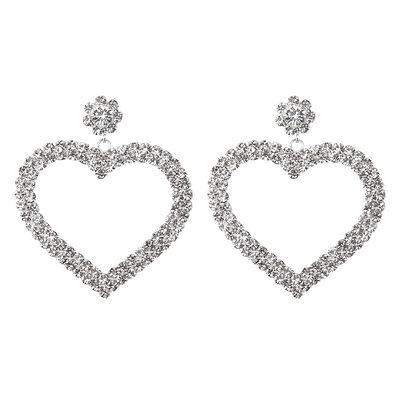 Ladies' Sweet Heart Alloy/Rhinestones Earrings