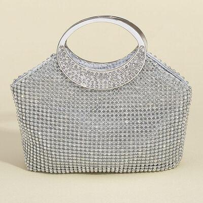 Bright Crystal/ Rhinestone Clutches/Satchel/Top Handle Bags/Bridal Purse/Evening Bags