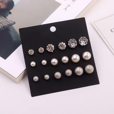 Elegant Alloy/Rhinestones/Imitation Pearls Ladies' Earrings