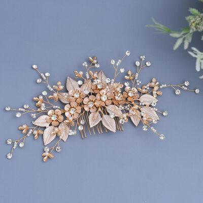 Damer/Kids Vakkert Crystal/Rhinestone/Legering/Imitert Perle/Kunstig Silke Kammer og Barrettes med Rhinestone/Perle/Venetianske Perle/Crystal/Imitert Krystall (Selges i ett stykke)