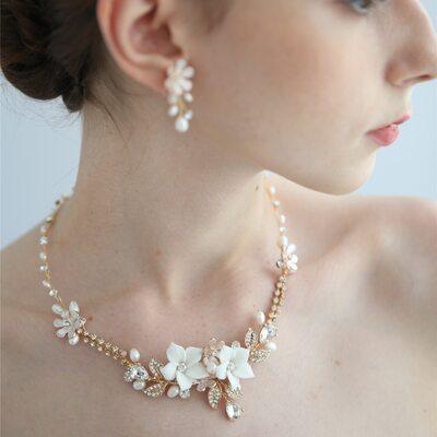 Damene ' Elegant Legering/Perle/Rhinestones/Keramikk Perle/Rhinestone Smykker Sett Henne/Venner