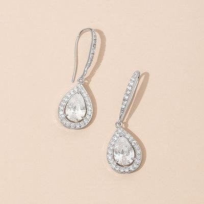 Shining Zircon Ladies' Earrings