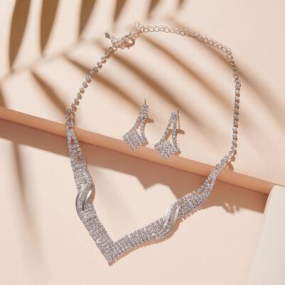 Elegant Alloy/Rhinestones Ladies' Jewelry Sets