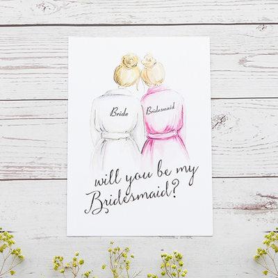 Brudepike Gaver - Klassisk Stil Elegant Papir Bryllupsdagskort