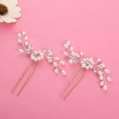 Ladies Beautiful Alloy/Imitation Pearls Hairpins (Set of 2)