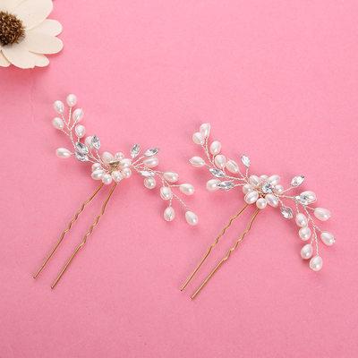 Ladies Beautiful Alloy/Imitation Pearls Hairpins (Set of 2)