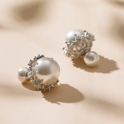 Exquisite Alloy/Imitation Pearls Ladies' Earrings