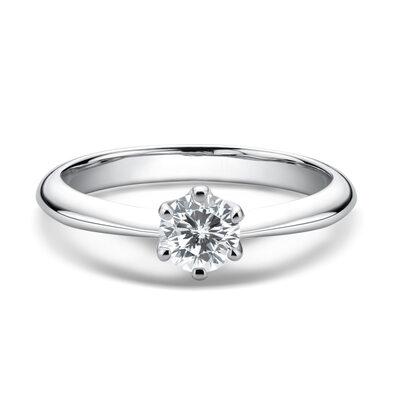 Damene ' Klassisk stil 925 sølv og Kjetting moissanite Innledende ringer/Promise Rings/Forlovelsesringer Ringer
