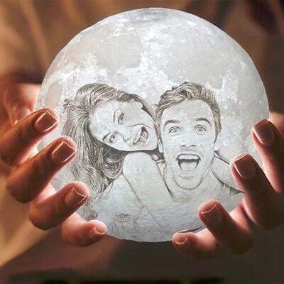 Bride Gifts - Personalized Special Photo Moon Lamp