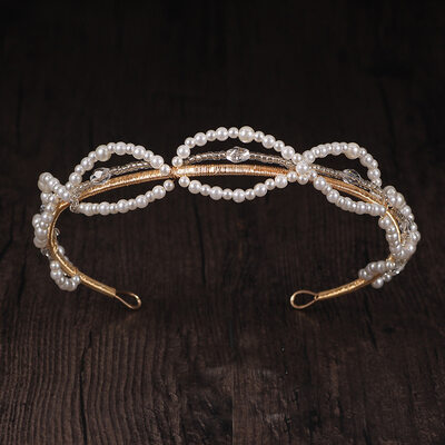 Ladies Beautiful Crystal/Alloy/Imitation Pearls Tiaras (Sold in single piece)
