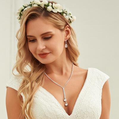 Ladies' Stylish Rhinestones With Pear Jewelry Sets