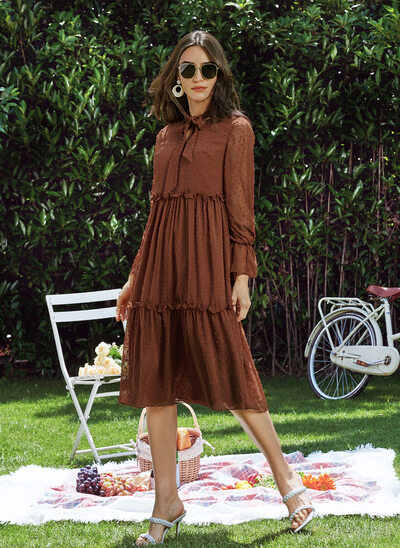 A-Line V-neck Knee-Length Cocktail Dress
