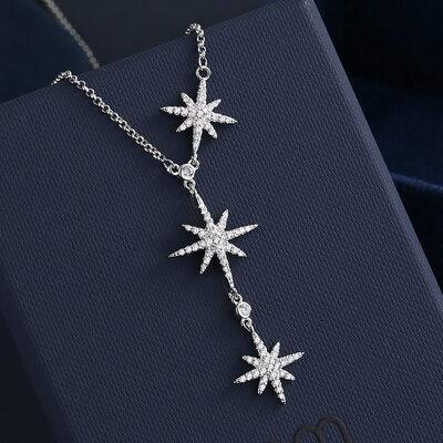 Ladies' Beautiful Copper Rhinestone Necklaces
