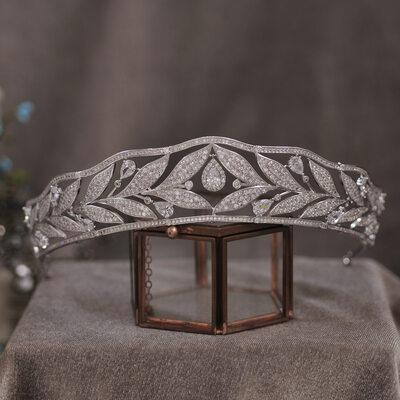 Elegant Alloy/Silver Plated/Zircon With Rhinestone/Cubic Zirconia