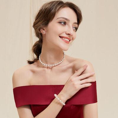 Alloy/Imitation Pearls Ladies' Jewelry Sets