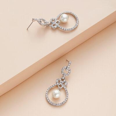 Beautiful Alloy/Rhinestones Ladies' Earrings
