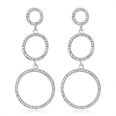 Ladies' Fashionable Alloy/Rhinestones Earrings