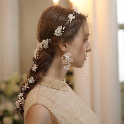 Gorgeous Crystal/Alloy/Silk Flower/Pearls Headbands (Set of 2)