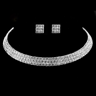 Ladies' Beautiful Alloy/Rhinestones Jewelry Sets