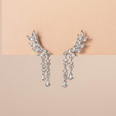 Shining Alloy/Rhinestones Ladies' Earrings