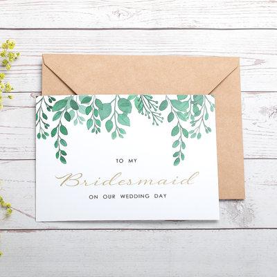 Brudepike Gaver - Kort papir Bryllupsdagskort