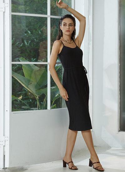 Square Neckline Knee-Length Cocktail Dress