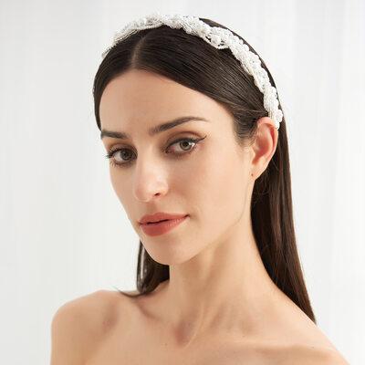 Vintage Alloy/Pearls Headbands