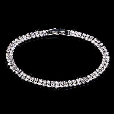 Ladies' Double Rows Alloy/Rhinestones Bracelets