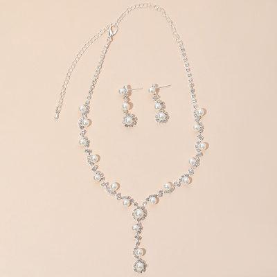 Elegant Legering/kobber med Rhinestone/Imitert Perle Damene ' Smykker Sett