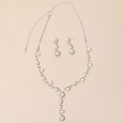 Elegant Alloy/Copper With Rhinestone/Imitation Pearls Ladies' Jewelry Sets