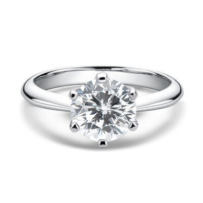 Ladies' Classic 925 silver and chain Moissanite Initial Rings/Promise Rings/Engagement Rings Rings