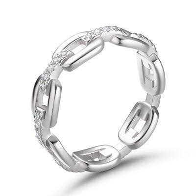Chain Link Round Cut 925 sølv Kvinners band