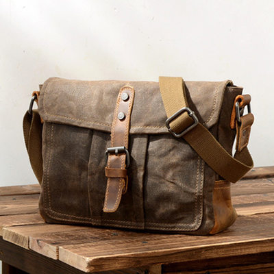 Groomsmen Gifts - Vintage Canvas Shoulder Bag