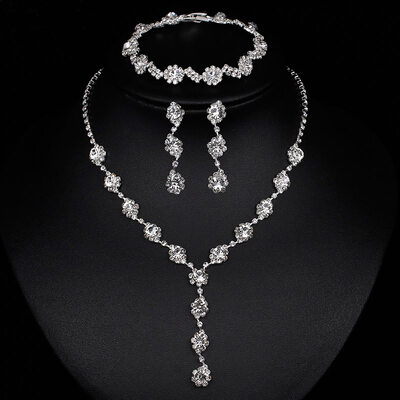Ladies' Pretty Alloy/Rhinestones Jewelry Sets