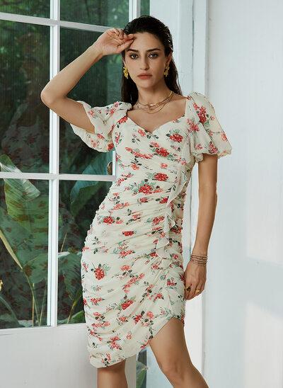 Sweetheart Asymmetrical Homecoming Dress